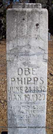 PHIPPS, OBE - Scott County, Arkansas | OBE PHIPPS - Arkansas Gravestone Photos