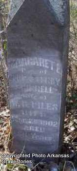 SHIRRELL PILES, MARGARET E - Scott County, Arkansas   MARGARET E SHIRRELL PILES - Arkansas Gravestone Photos
