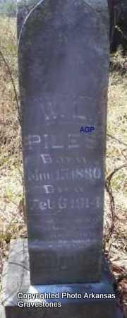 PILES, W  L - Scott County, Arkansas   W  L PILES - Arkansas Gravestone Photos