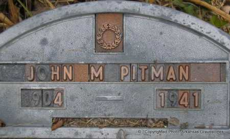 PITMAN, JOHN M - Scott County, Arkansas | JOHN M PITMAN - Arkansas Gravestone Photos
