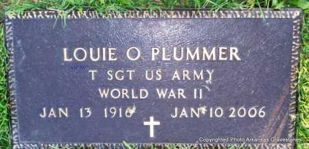 PLUMMER  (VETERAN WWII), LOUIE O - Scott County, Arkansas | LOUIE O PLUMMER  (VETERAN WWII) - Arkansas Gravestone Photos