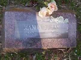RAY, MANDA F - Scott County, Arkansas   MANDA F RAY - Arkansas Gravestone Photos