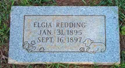 REDDING, ELGIA - Scott County, Arkansas   ELGIA REDDING - Arkansas Gravestone Photos