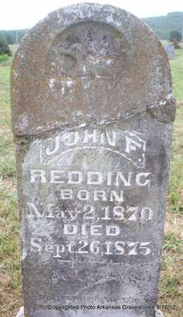 REDDING, JOHN F - Scott County, Arkansas | JOHN F REDDING - Arkansas Gravestone Photos