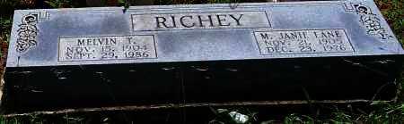 LANE RICHEY, M  JANIE - Scott County, Arkansas | M  JANIE LANE RICHEY - Arkansas Gravestone Photos