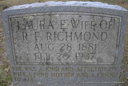 RICHMOND, LAURA E - Scott County, Arkansas   LAURA E RICHMOND - Arkansas Gravestone Photos