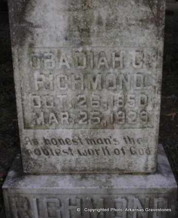 "RICHMOND, OBADIAH ""OBE"" CORNWELL - Scott County, Arkansas | OBADIAH ""OBE"" CORNWELL RICHMOND - Arkansas Gravestone Photos"