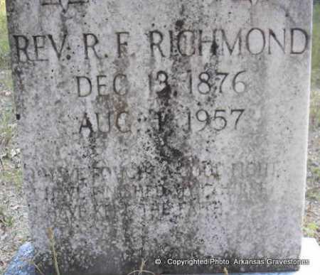 "RICHMOND, REV  R F  ""FRANK"" - Scott County, Arkansas | REV  R F  ""FRANK"" RICHMOND - Arkansas Gravestone Photos"