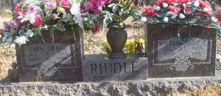 RIDDLE, WILLIAM ( BILL) T - Scott County, Arkansas | WILLIAM ( BILL) T RIDDLE - Arkansas Gravestone Photos