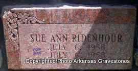 RIDENHOUR, SUE ANN - Scott County, Arkansas | SUE ANN RIDENHOUR - Arkansas Gravestone Photos