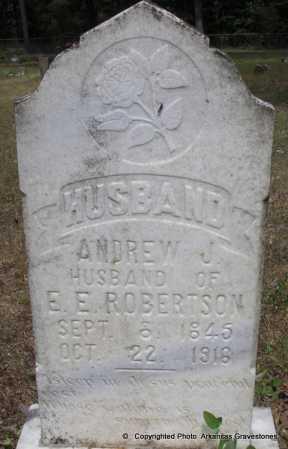 ROBERTSON, ANDREW J - Scott County, Arkansas   ANDREW J ROBERTSON - Arkansas Gravestone Photos