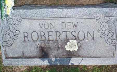 ROBERTSON, VON DEW - Scott County, Arkansas | VON DEW ROBERTSON - Arkansas Gravestone Photos