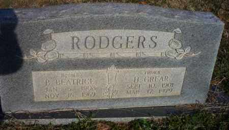 RODGERS, H GREAR - Scott County, Arkansas | H GREAR RODGERS - Arkansas Gravestone Photos