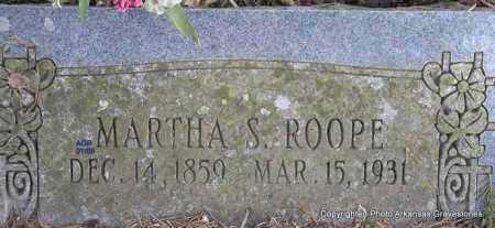 HUDGENS ROOPE, MARTHA S - Scott County, Arkansas | MARTHA S HUDGENS ROOPE - Arkansas Gravestone Photos