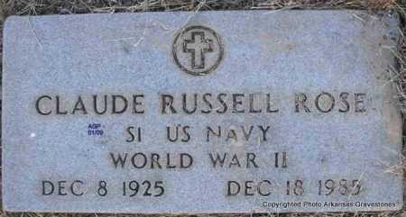 ROSE  (VETERAN WWII), CLAUDE RUSSELL - Scott County, Arkansas | CLAUDE RUSSELL ROSE  (VETERAN WWII) - Arkansas Gravestone Photos
