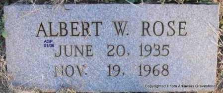ROSE, ALBERT W - Scott County, Arkansas | ALBERT W ROSE - Arkansas Gravestone Photos