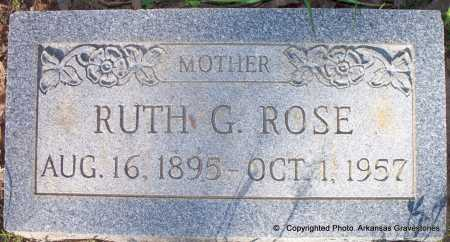 SUTTON ROSE, RUTH GERTRUDE - Scott County, Arkansas   RUTH GERTRUDE SUTTON ROSE - Arkansas Gravestone Photos