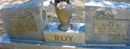 ROY, ALICE A - Scott County, Arkansas | ALICE A ROY - Arkansas Gravestone Photos