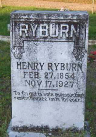 RYBURN, HENRY - Scott County, Arkansas | HENRY RYBURN - Arkansas Gravestone Photos