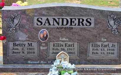 SANDERS, ELLIS EARL - Scott County, Arkansas | ELLIS EARL SANDERS - Arkansas Gravestone Photos