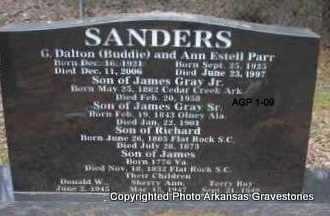 PARR SANDERS, ANN ESTELL - Scott County, Arkansas | ANN ESTELL PARR SANDERS - Arkansas Gravestone Photos