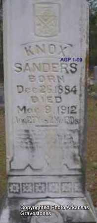 SANDERS, KNOX - Scott County, Arkansas   KNOX SANDERS - Arkansas Gravestone Photos