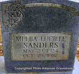 SANDERS, MELBA LUCILLE  (2ND STONE) - Scott County, Arkansas | MELBA LUCILLE  (2ND STONE) SANDERS - Arkansas Gravestone Photos