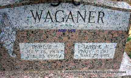 WAGANER, PAUL E - Scott County, Arkansas | PAUL E WAGANER - Arkansas Gravestone Photos