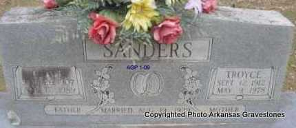 SANDERS, TROYCE - Scott County, Arkansas | TROYCE SANDERS - Arkansas Gravestone Photos