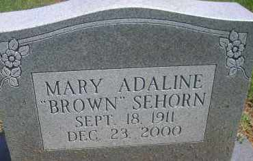 BROWN SEHORN, MARY ADALINE - Scott County, Arkansas | MARY ADALINE BROWN SEHORN - Arkansas Gravestone Photos