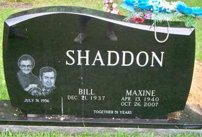 SHADDON, MAXINE - Scott County, Arkansas | MAXINE SHADDON - Arkansas Gravestone Photos