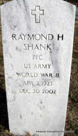 SHANK (VETERAN WWII), RAYMOND H - Scott County, Arkansas | RAYMOND H SHANK (VETERAN WWII) - Arkansas Gravestone Photos