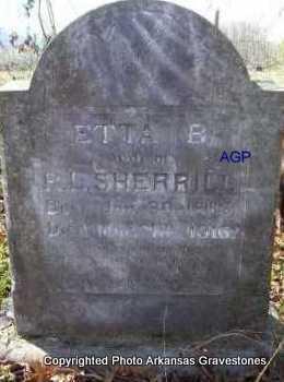 SHERRILL, ETTA B - Scott County, Arkansas | ETTA B SHERRILL - Arkansas Gravestone Photos