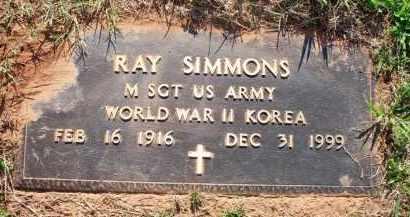 SIMMONS  (VETERAN 2 WARS), RAY - Scott County, Arkansas   RAY SIMMONS  (VETERAN 2 WARS) - Arkansas Gravestone Photos
