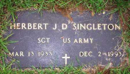 SINGLETON  (VETERAN), HERBERT J D - Scott County, Arkansas | HERBERT J D SINGLETON  (VETERAN) - Arkansas Gravestone Photos