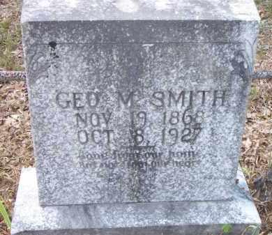 SMITH, GEO  M - Scott County, Arkansas   GEO  M SMITH - Arkansas Gravestone Photos