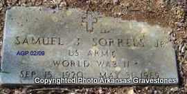 SORRELS, JR  (VETERAN WWII), SAMUEL J - Scott County, Arkansas | SAMUEL J SORRELS, JR  (VETERAN WWII) - Arkansas Gravestone Photos