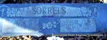 SORRELS, JR, SAMUEL J - Scott County, Arkansas   SAMUEL J SORRELS, JR - Arkansas Gravestone Photos