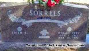 SORRELS, NOLAN IRBY - Scott County, Arkansas | NOLAN IRBY SORRELS - Arkansas Gravestone Photos