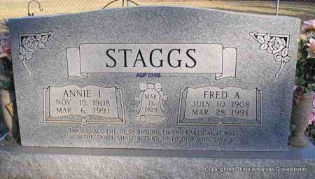STAGGS, FRED A - Scott County, Arkansas | FRED A STAGGS - Arkansas Gravestone Photos