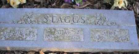 STAGGS, LUTHER - Scott County, Arkansas | LUTHER STAGGS - Arkansas Gravestone Photos