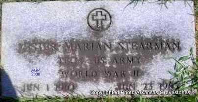 STEARMAN  (VETERAN WWII), LESTER MARIAN - Scott County, Arkansas   LESTER MARIAN STEARMAN  (VETERAN WWII) - Arkansas Gravestone Photos