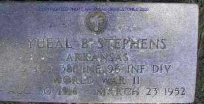 STEPHENS  (VETERAN WWII), YUEAL B - Scott County, Arkansas | YUEAL B STEPHENS  (VETERAN WWII) - Arkansas Gravestone Photos