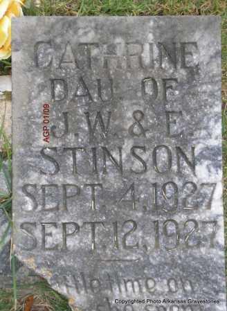 STINSON, CATHRINE - Scott County, Arkansas | CATHRINE STINSON - Arkansas Gravestone Photos