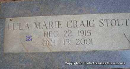 CRAIG STOUT, LULA MARIE - Scott County, Arkansas | LULA MARIE CRAIG STOUT - Arkansas Gravestone Photos