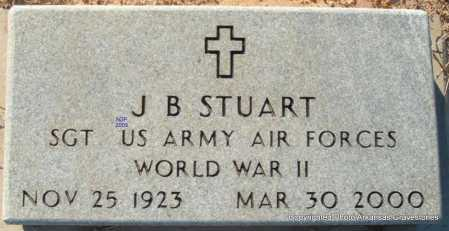 STUART  (VETERAN WWII), J B - Scott County, Arkansas | J B STUART  (VETERAN WWII) - Arkansas Gravestone Photos