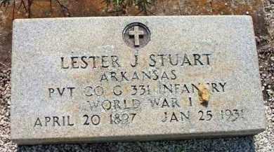 STUART  (VETERAN WWI), LESTER J - Scott County, Arkansas | LESTER J STUART  (VETERAN WWI) - Arkansas Gravestone Photos