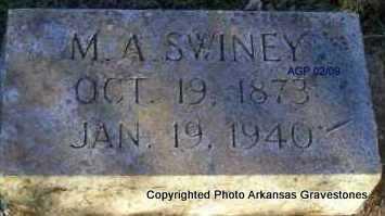 SWINEY, M  A - Scott County, Arkansas | M  A SWINEY - Arkansas Gravestone Photos