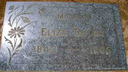 TAYLOR, ELIZA - Scott County, Arkansas | ELIZA TAYLOR - Arkansas Gravestone Photos