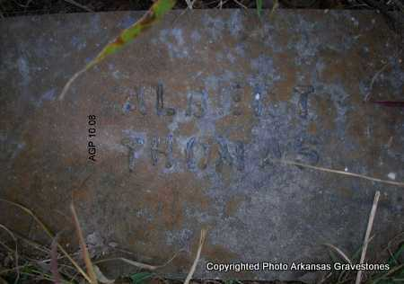 THOMAS, ALBERT - Scott County, Arkansas   ALBERT THOMAS - Arkansas Gravestone Photos